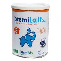 Premibio - Prémilait, Lait infantile de croissance bio, 1 à 3 ans, 400g