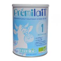 Premibio - Prémilait, Lait 1er âge non épaissi - 900 gr - 0-6 mois