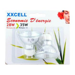 Xxcell - 2 Halogene light bulbs 28W 430 GU10