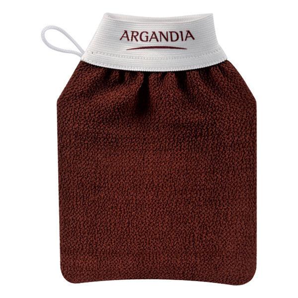 Gant de gommage corps marron argandia acheter sur - Gommage corps avant ou apres la douche ...