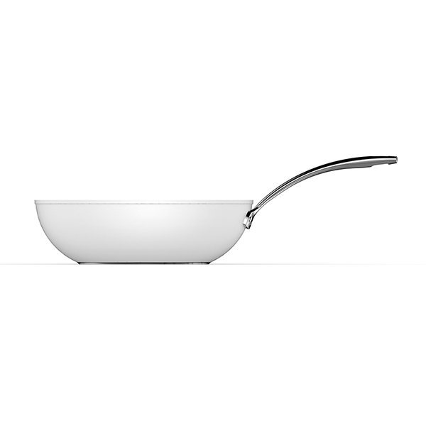 Aubecq - Wok céramique Evergreen White 30cm