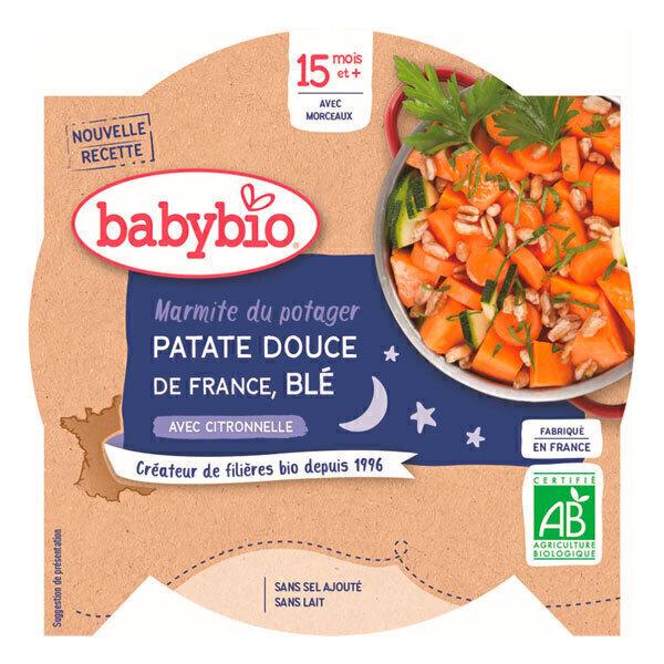 Babybio - Assiette bonne nuit patates douces et blé 260g - Dès 15 mois