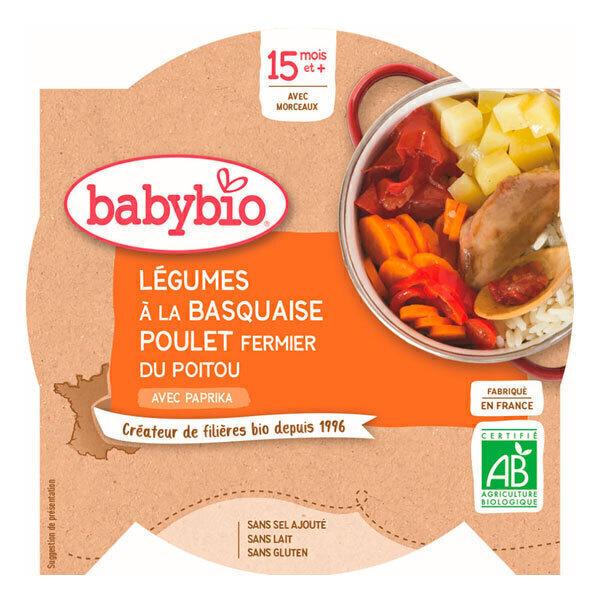 Babybio - Assiette Poulet Basquaise Riz - 260g