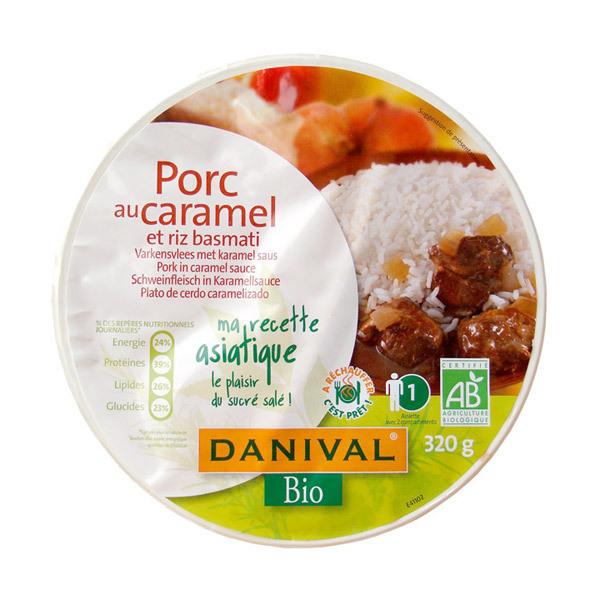 Danival - Geschmortes Schwein in Karamell mit Bio Basmati Reis 320 g