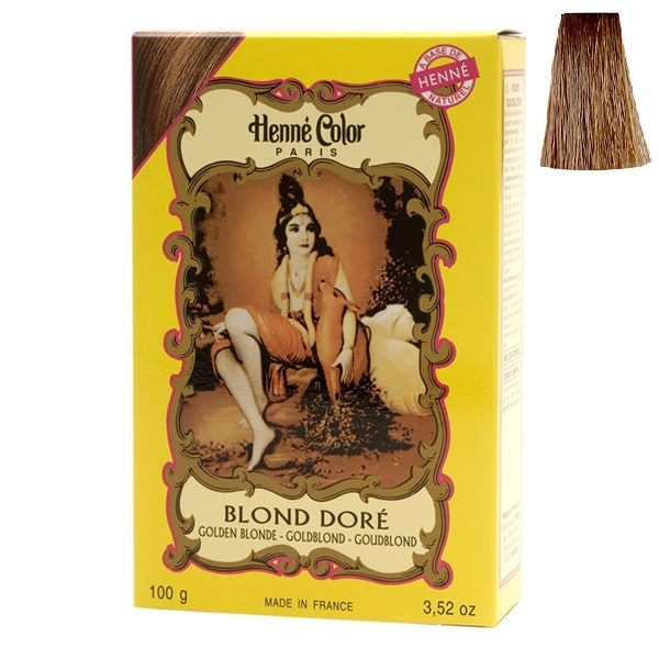 henne color coloration henn blond dor 100g loading zoom - Coloration Henn Blond