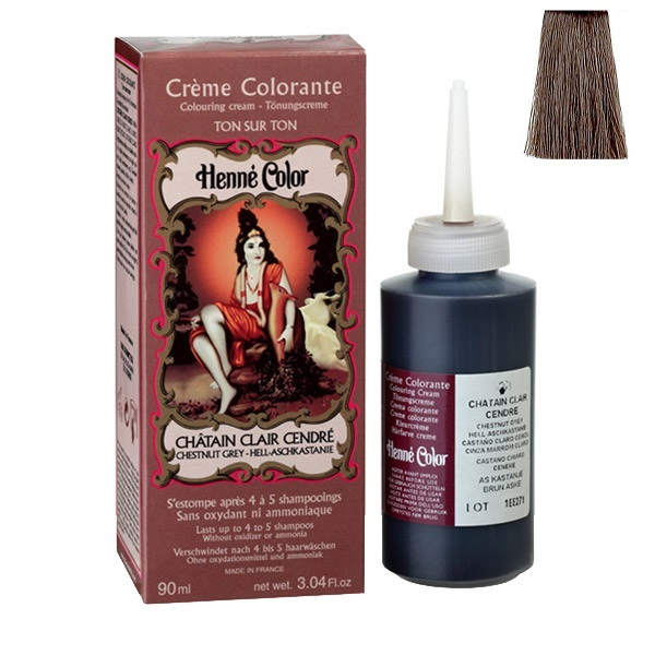 henne color crme colorante chtain clair cendr 90ml loading zoom - Coloration Chatain Cendr