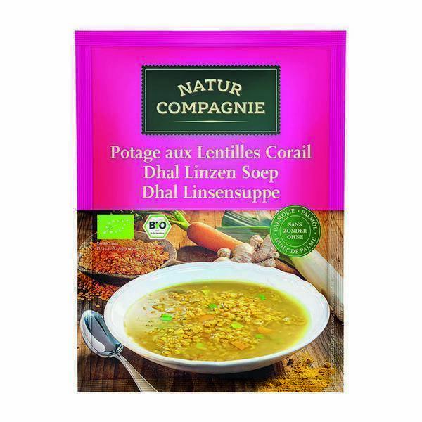 Natur Compagnie - Soupe de lentilles epicé au curry 50cl