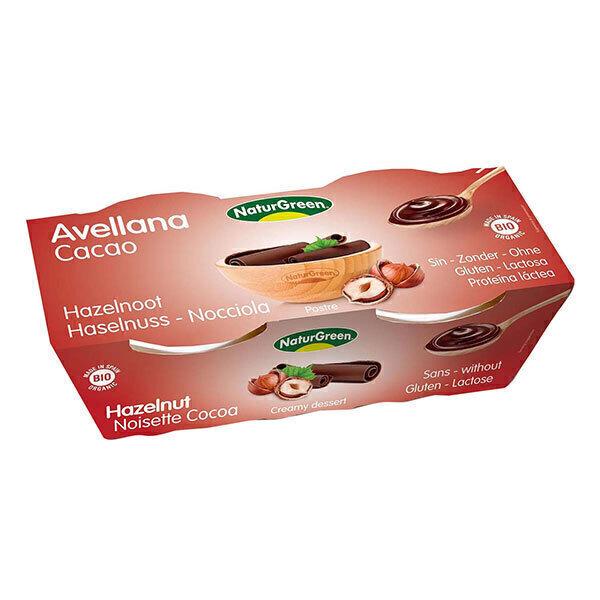NaturGreen - Dessert alla nocciola e cacao Bio 2 x 125g