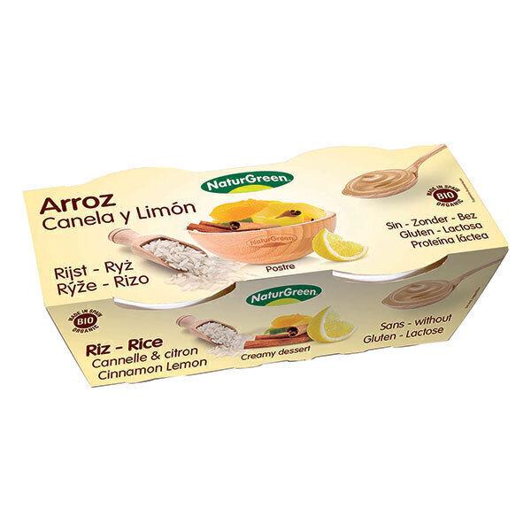 NaturGreen - Dessert riso al limone e cannella Bio 2 x 125g
