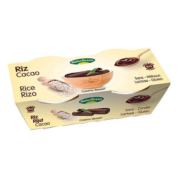 NaturGreen - Dessert riso al cioccolato Bio 2 x 125g