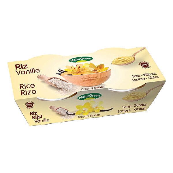 NaturGreen - Dessert Riz Vanille Bio 2x125g