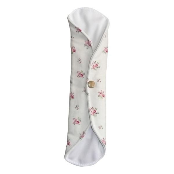 Toudoo Natura - Serviette Hygiénique Nuit Lavable Roses Coton Bio