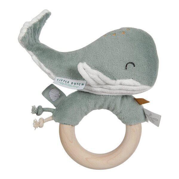 Little Dutch - Hochet anneau Baleine - Ocean Mint