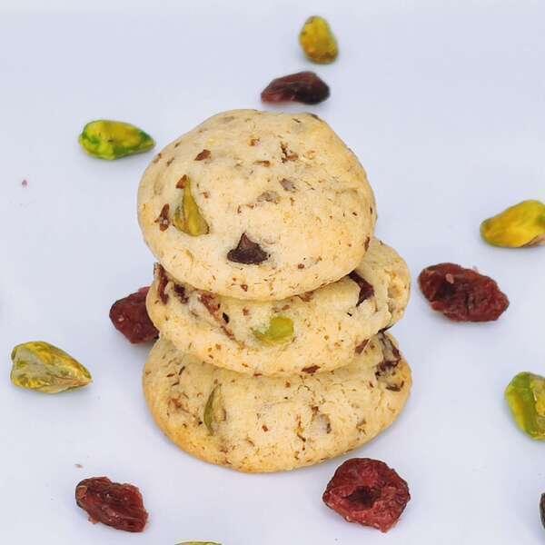Aux saveurs d'elodie - La canadienne, biscuit aux cranberries et pistaches 80gr