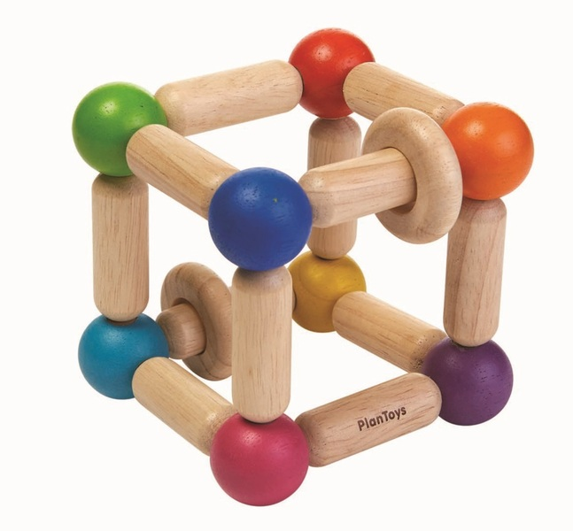 Plan Toys - Hochet carré souple
