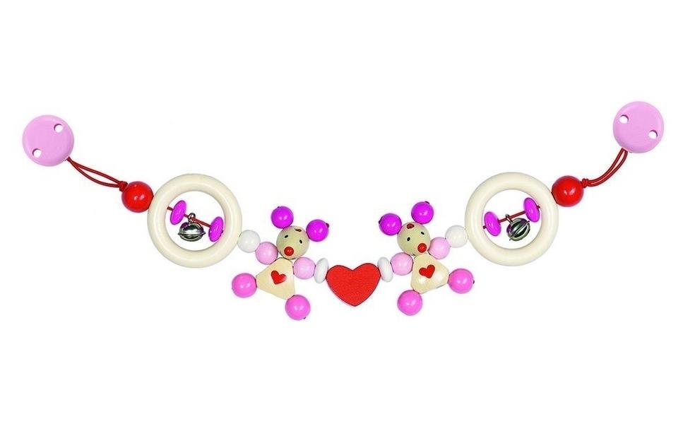 Heimess - Chaîne poussette souris rose