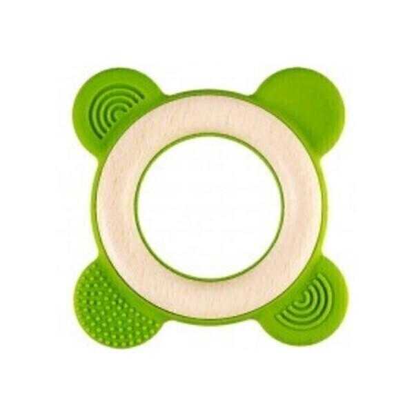Little Big Things - Anneau de dentition Bi-matière Ring0+ vert