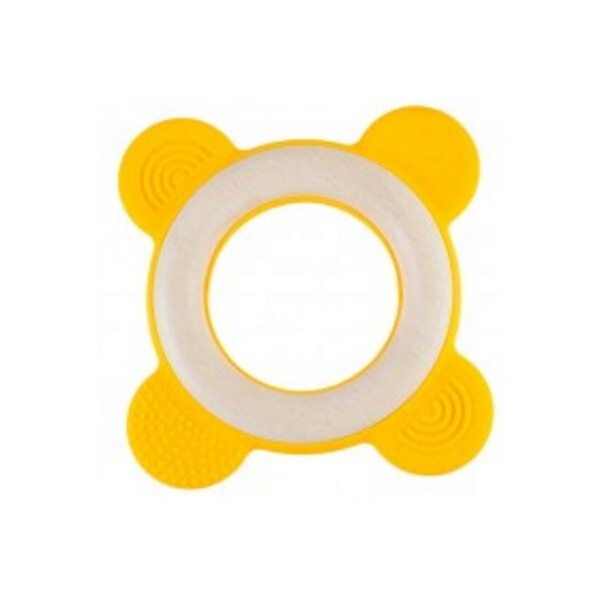 Little Big Things - Anneau de dentition Bi-matière Ring0+ jaune