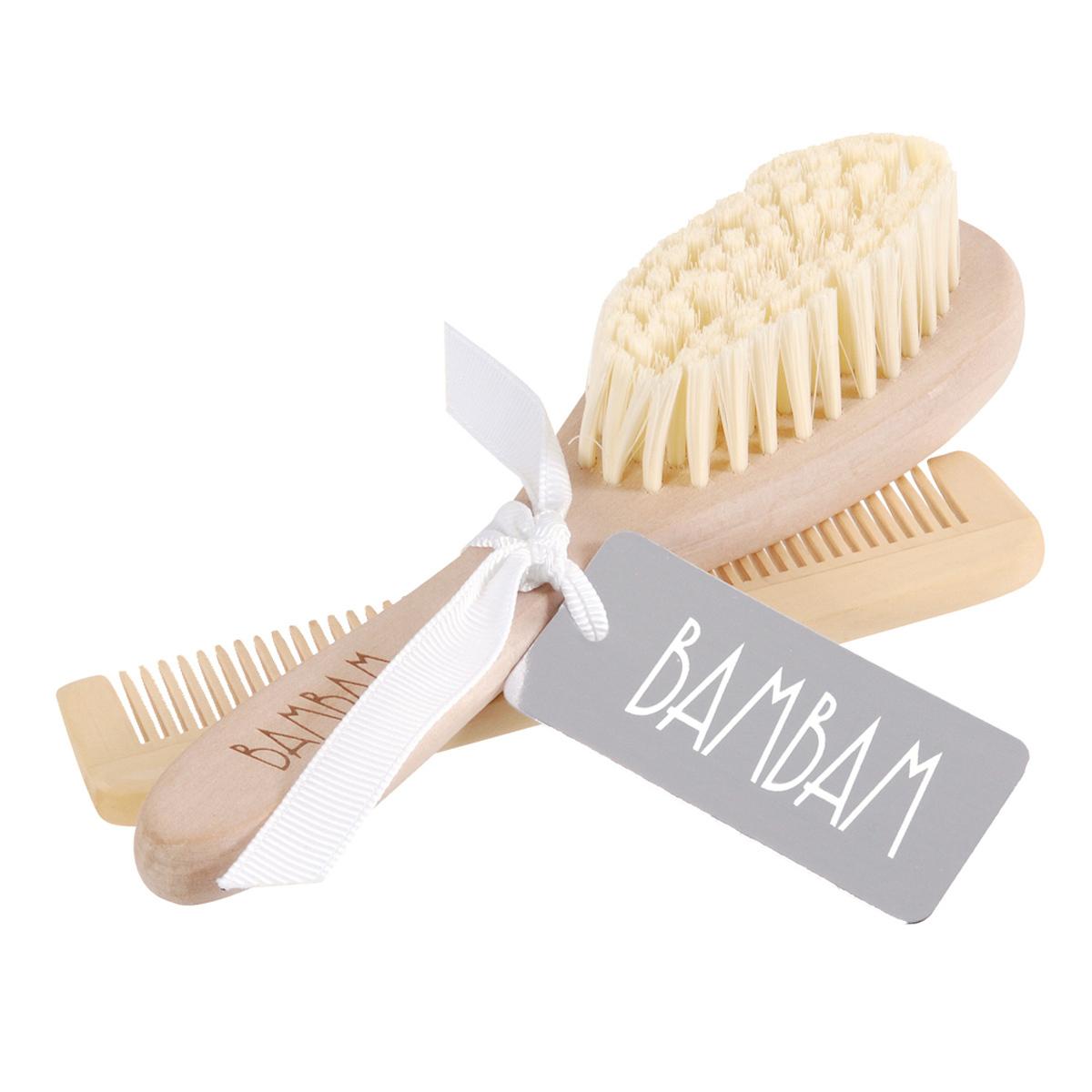 BamBam - Brosse et peigne en bois