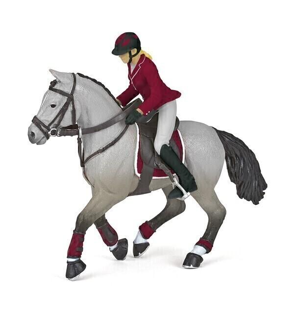 Papo - Cheval de concours et sa cavalière