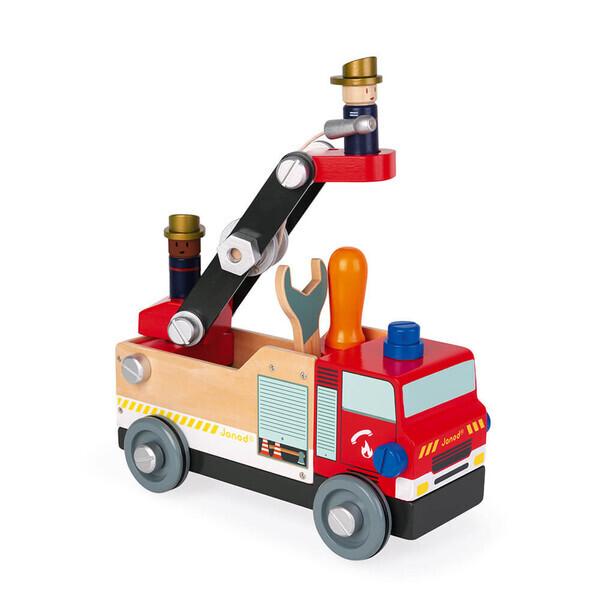 Janod - Camion de pompiers Brico'Kids