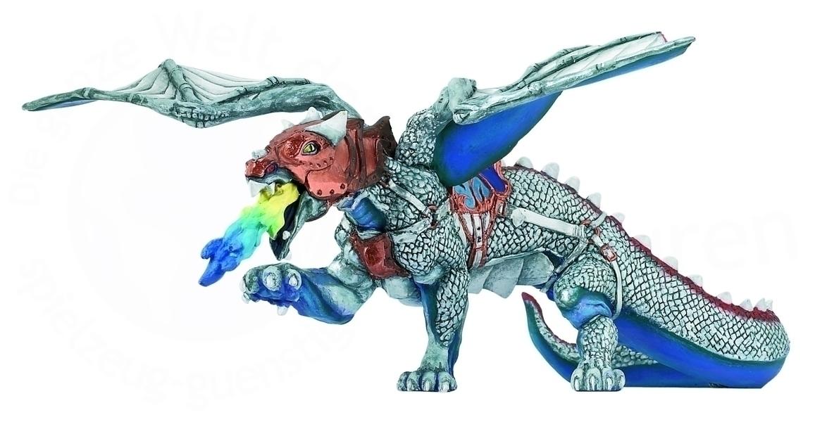 Papo - Dragon destrier argent