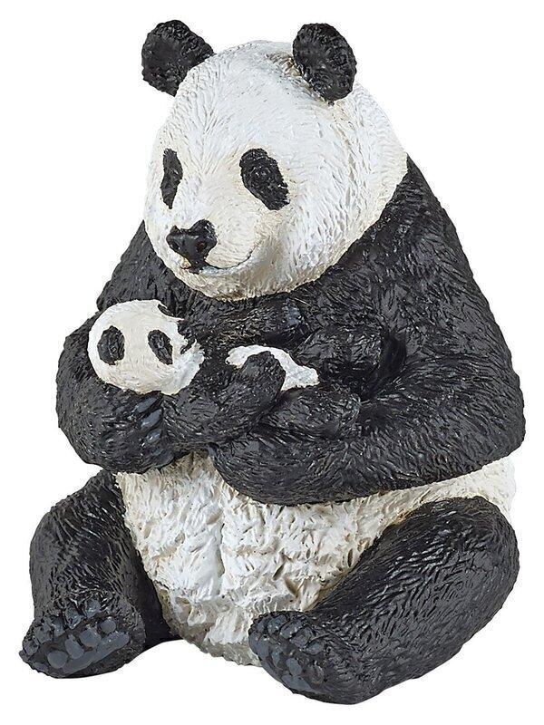 Papo - Panda assis et son bébé