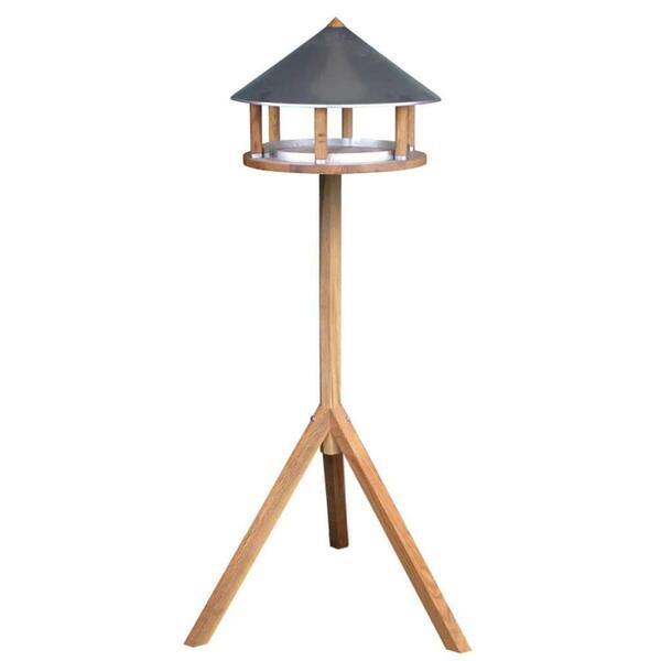 Esschert Design - Mangeoire à oiseaux toit rond zinc