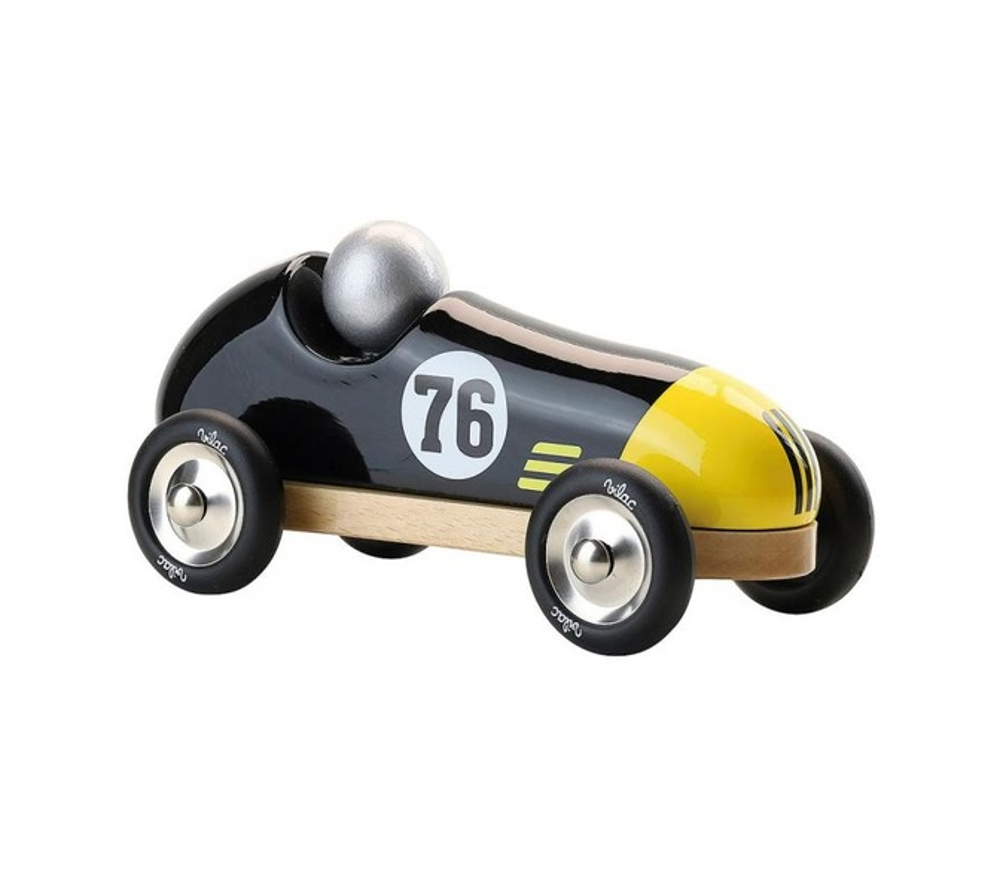 Vilac - Voiture vintage sport noire et jaune