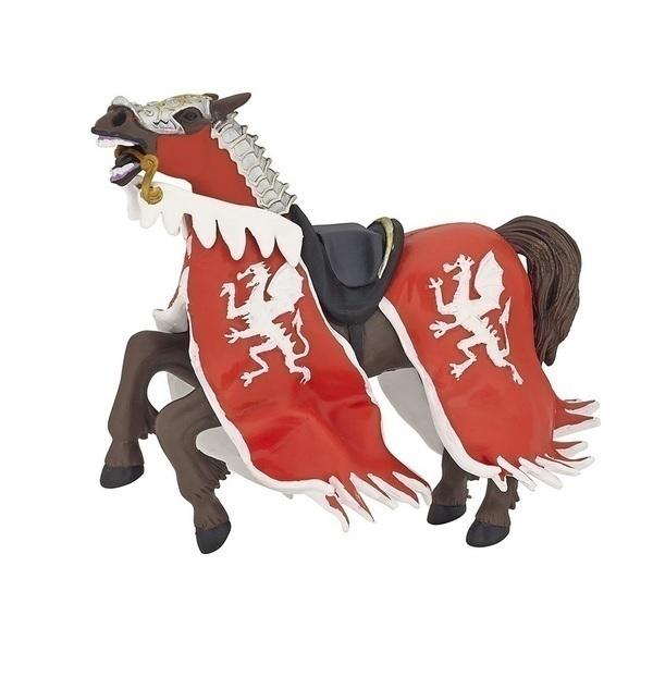 Papo - Cheval du roi au dragon rouge