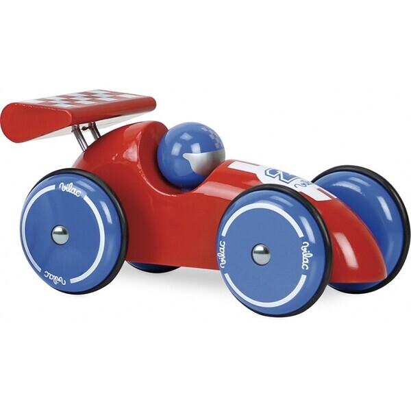 Vilac - Voiture de course XL rouge et bleue