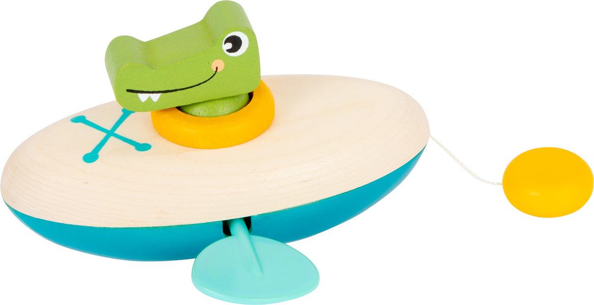 Small Foot - Jouet aquatique Crocodile en canoë