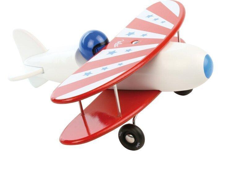 Vilac - Avion bi-plan corps blanc