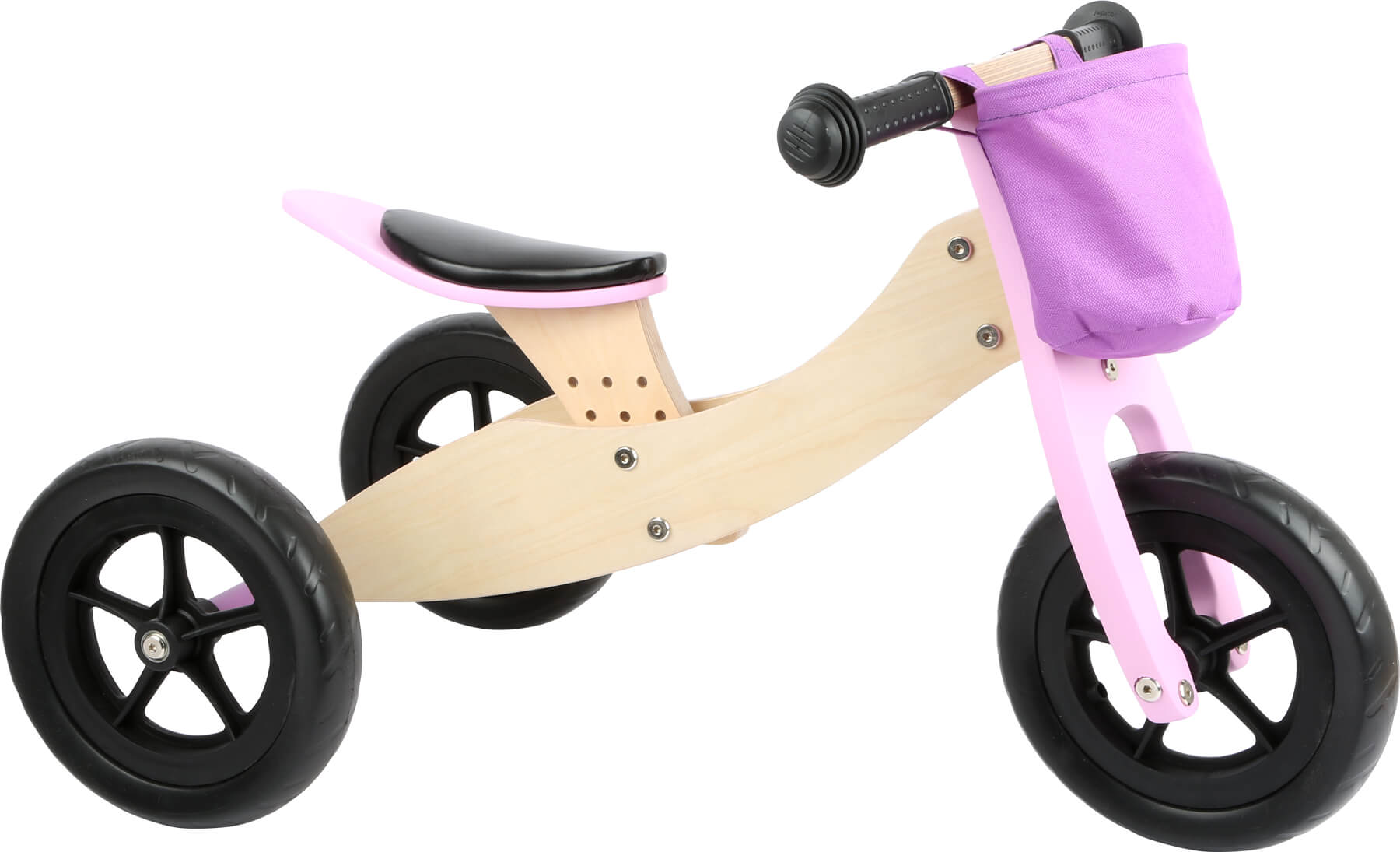 Small Foot - Draisienne Tricycle 2 en 1 Maxi Rose