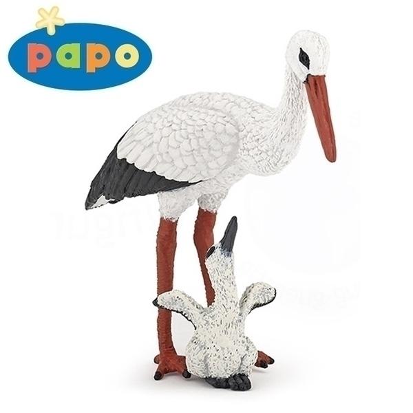 Papo - Cigogne et son bébé