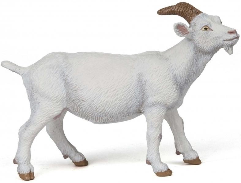 Papo - Chèvre blanche à cornes