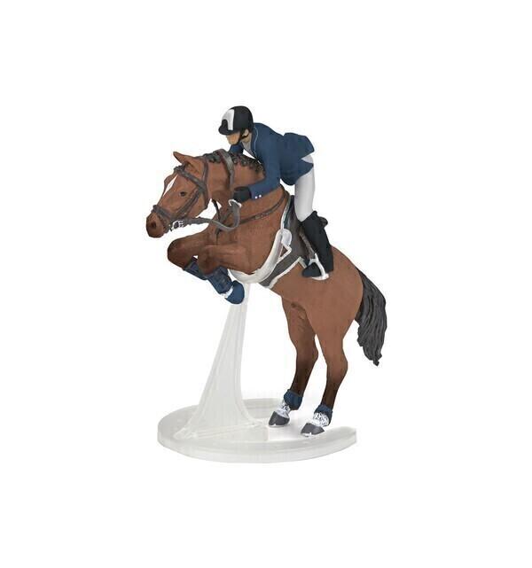 Papo - Cheval de saut d'obstacle et son cavalier