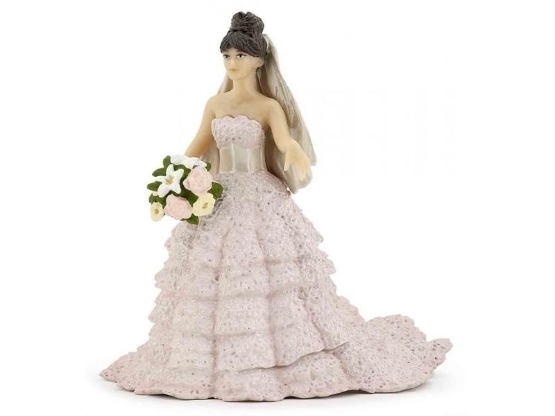 Papo - Mariée dentelle rose