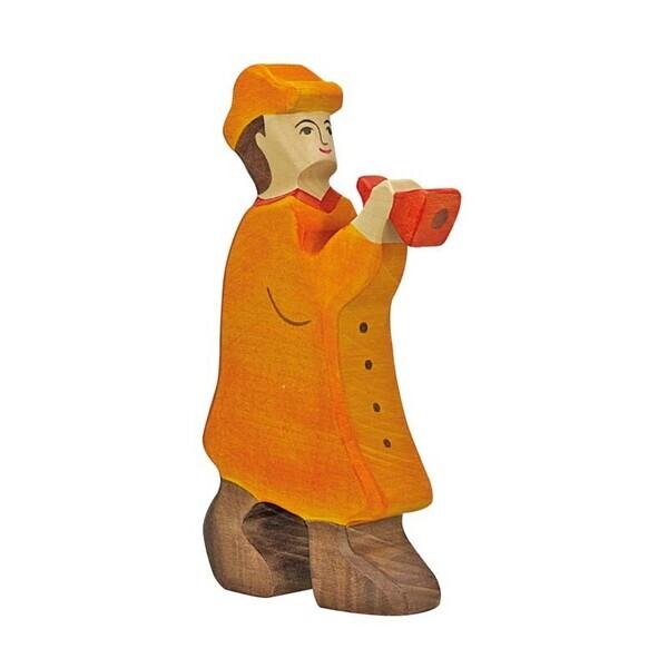 Holtztiger - Crèche de Noël - Berger avec flûte