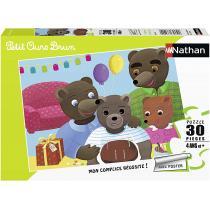 Nathan - Puzzle Anniversaire Petit Ours Brun 30 pcs