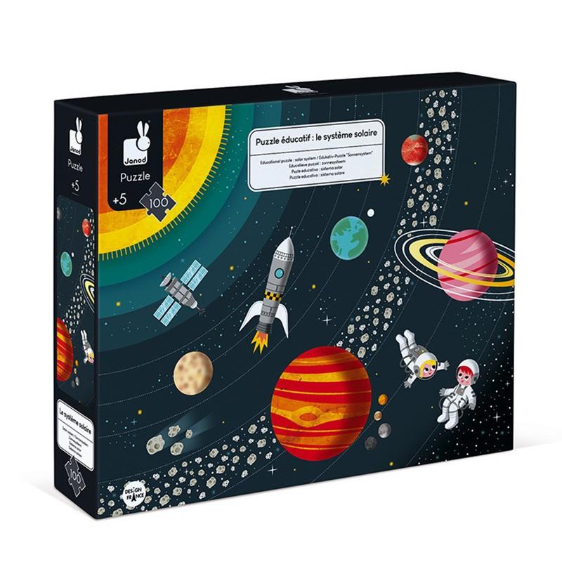 Janod - Puzzle éducatif Système Solaire 100 pcs