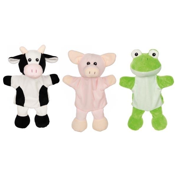 Goki - Marionnettes vache cochon grenouille