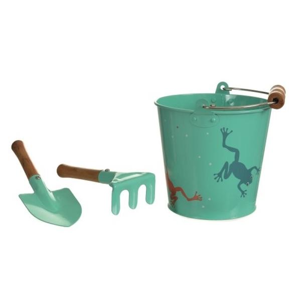 Egmont Toys - Set grenouille avec seau, pelle et râteau