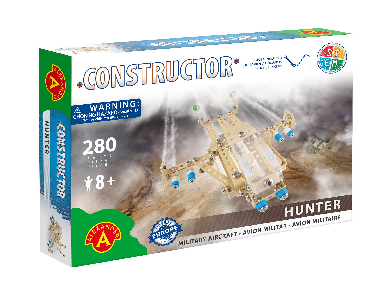 Alexander Toys - Constructor Hunter - Avion militaire