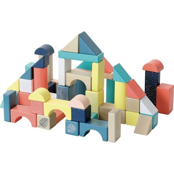 Vilac - Baril De 54 Cubes - Sous La Canopée