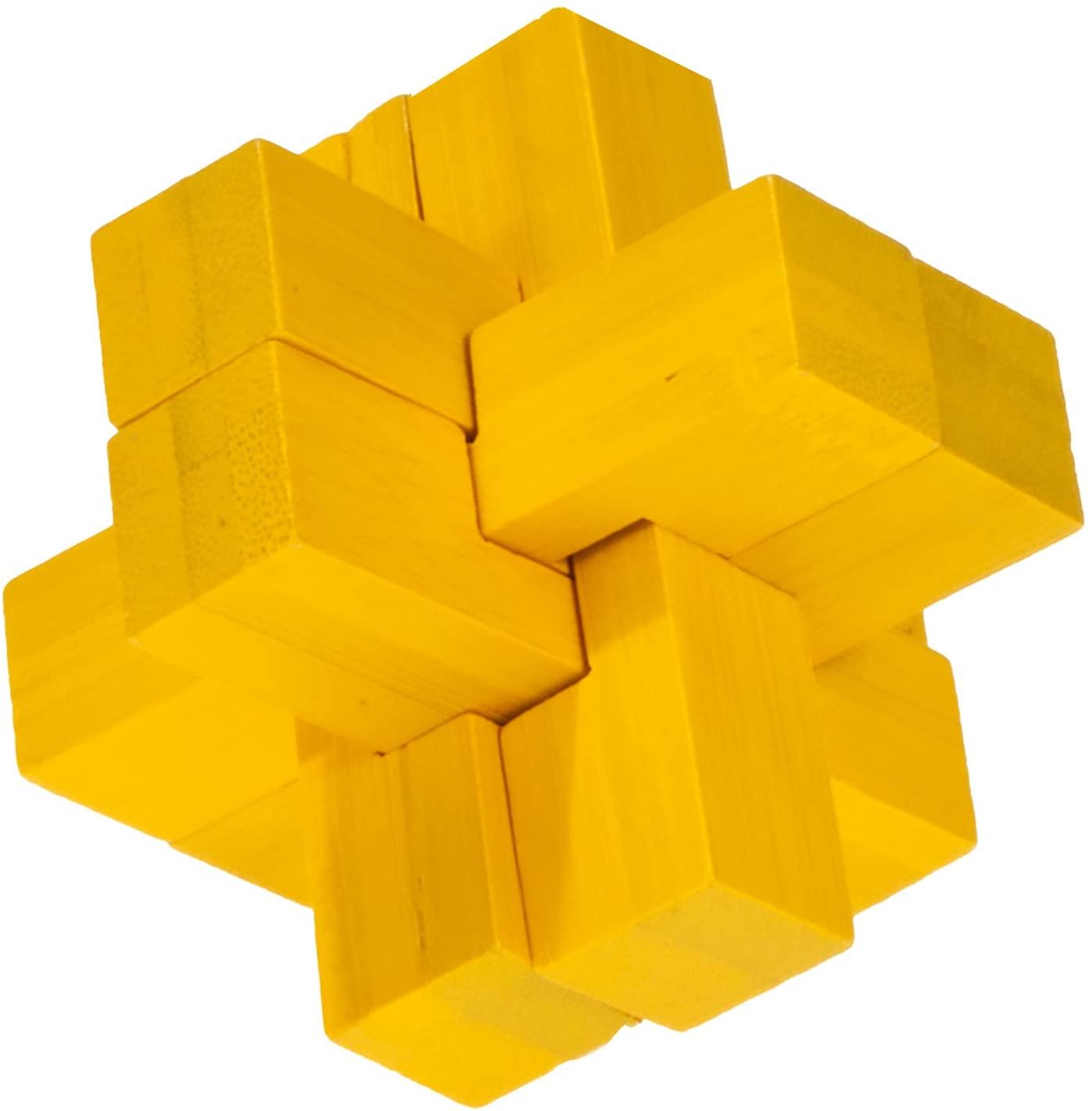 Fridolin - Casse-tête bambou La croix jaune