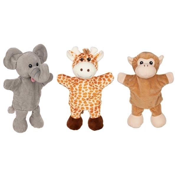 Goki - Marionnettes girafe singe éléphant
