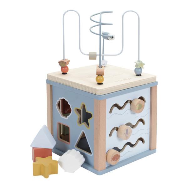 Little Dutch - Cube d'activités en bois Océan