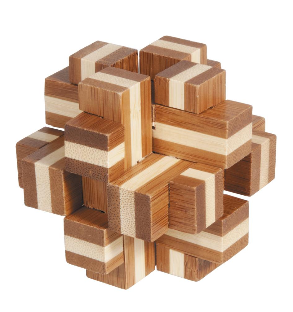 Fridolin - Casse-tête bambou Cube croix