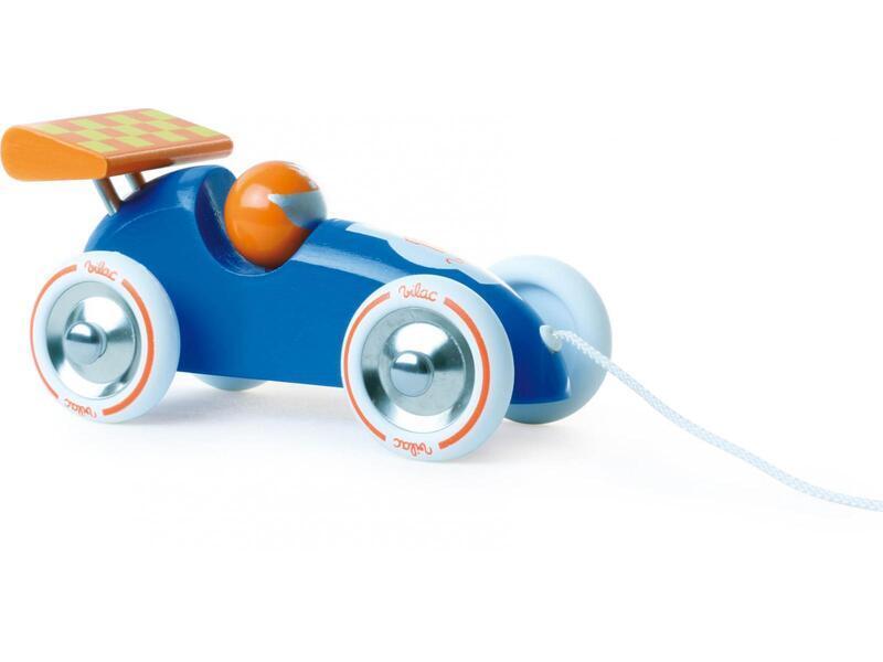 Vilac - Voiture de course bleue et orange